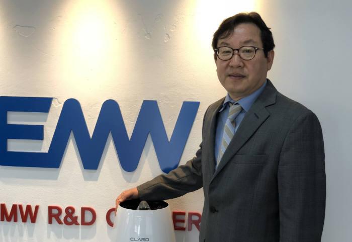 """김상현 EMW 부사장 """"기술력으로 공기청정기 시장 승부 걸겠다"""""""