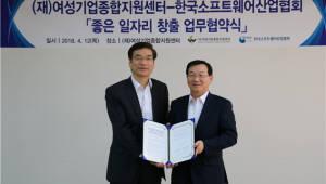 한국SW산업협회, 여성기업종합지원센터와 '일자리 창출' MOU체결