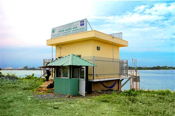 우리나라 중소기업 비엘프로세스가 베트남에 설치한 수질자동측정소. [자료:환경산업기술원]