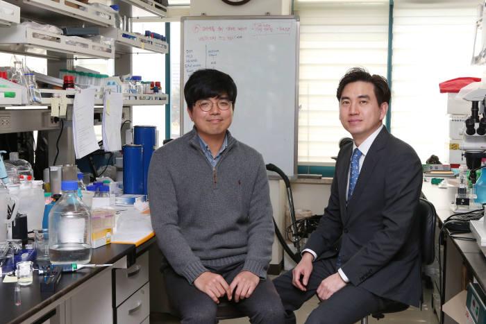 논문 1저자인 노일구 박사(왼쪽)와 김유천 교수(오른쪽)