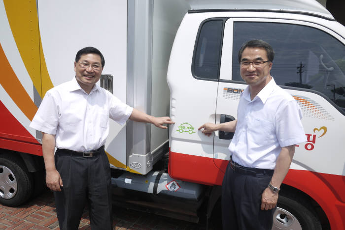 우정사업본부는 전체 배송차량 중 35%를 LPG트럭으로 교체 사용중이다. [자료:LPG산업협회]