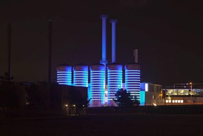 아들러스호프 단지에 전력을 공급하는 발전소. 아들러스호프 제공