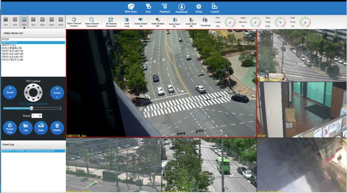 리얼허브의 지능형 CCTV 영상분석 시스템 운영 이미지.