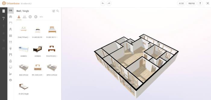 어반베이스는 LG전자 베스트샵에 홈디자인을 위한 VR/AR API를 제공했다.