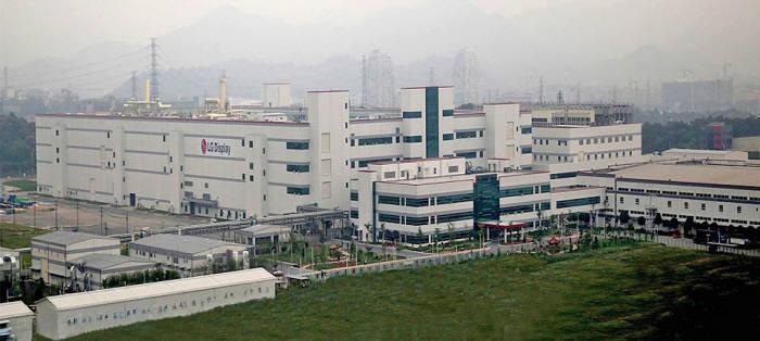 LG디스플레이 중국 광저우 액정표시장치(LCD) 공장 전경 (사진=LG디스플레이)