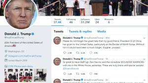 """트럼프 폭풍트윗 """"한국전쟁 끝날 것"""" """"시진핑, 큰 도움"""""""