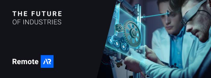 버넥트의 '리모트 AR' 제품 이미지.