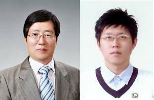 투명망토 재료인 메타물질을 대면적으로 제작할 수 있는 기술이 개발됐다. 사진은 김진곤 포스텍 교수(왼쪽)와 노준석 교수.