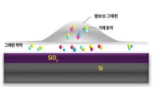 IBS, 화학 반응성 높은 '엠보싱 그래핀' 개발