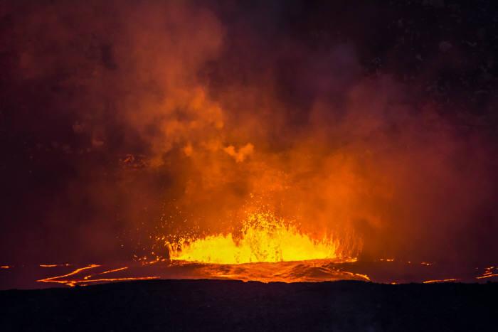 킬라우에아 화산의 용암 분출 모습. @게티이미지뱅크