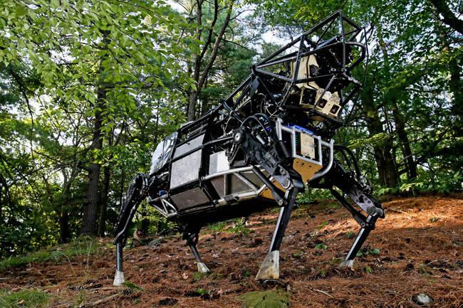미국 로봇 전문업체 보스턴 다이내믹스가 2019년부터 애완견 로봇 '스팟미니'를 시판할 것이라고 CNN 방송이 12일(현지시간) 전했다.보스톤 다이내믹스 로봇.