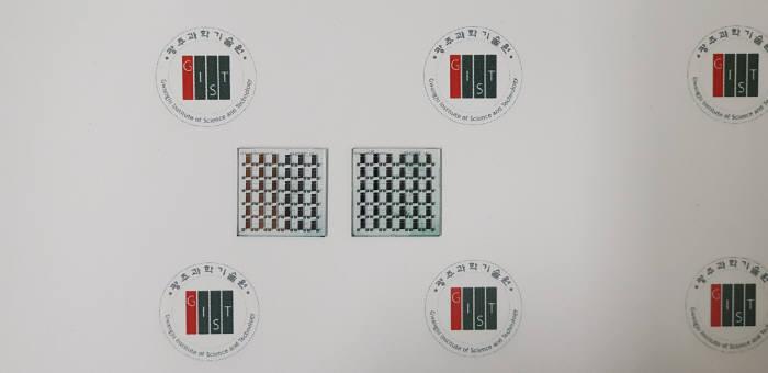 김동유 GIST 교수팀이 개발한 퀴노이드 공액 고분자를 적용시킨 유기 박막 트랜지스터 소자.