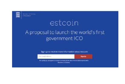 에스토니아 정부는 디지털통화 에스트코인 발행을 완료했다.