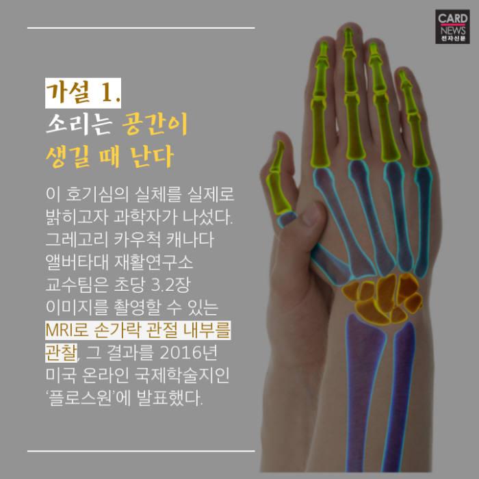 [카드뉴스]손가락 관절 '두둑' 소리의 미스터리