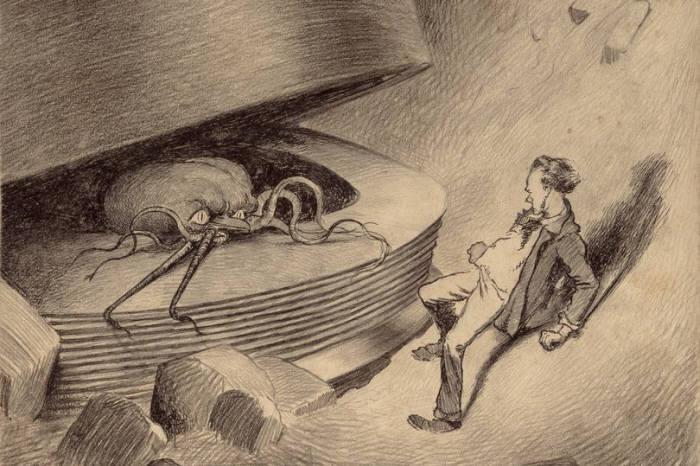브라질 아티스트 엔리케 알빔 코레아가 소설 우주전쟁 초기판을 위해 그렸던 오리지널 일러스트.