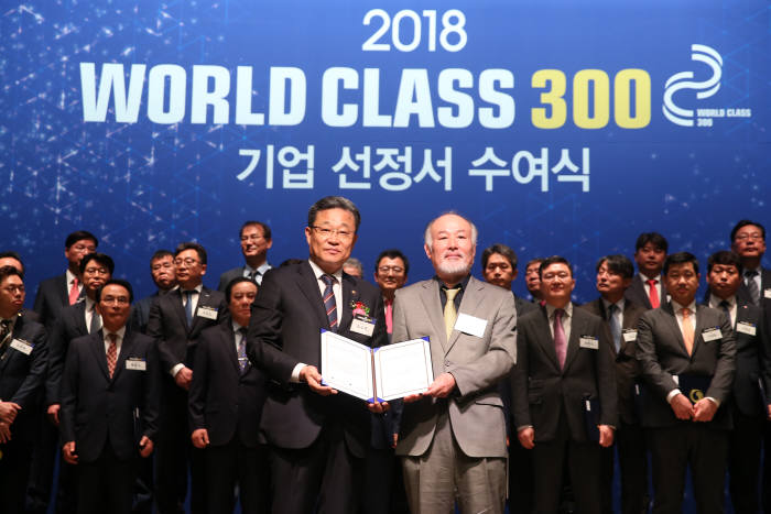 차세대융합기술연구원 입주기업 테너지가 지난 15일 산업통상자원부와 중소벤처기업부가 주관하는 글로벌 기업 육성 프로젝트인 '월드클래스 300' 기업에 선정됐다