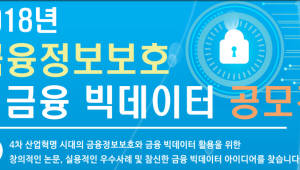 {htmlspecialchars(금보원, 2018 금융 정보보호&빅데이터 공모전 개최)}