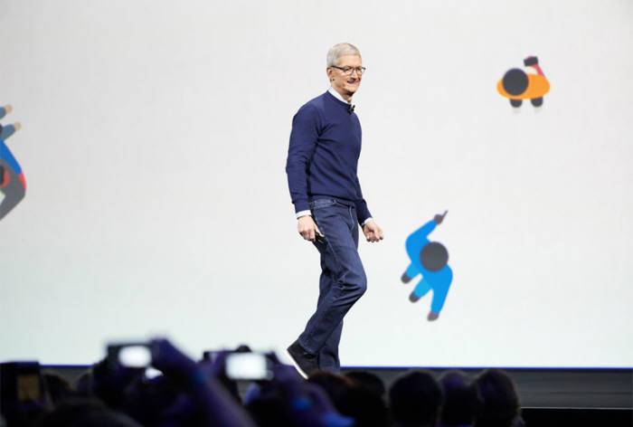 WWDC 2017에서 발표를 하고 있는 팀 쿡 애플 CEO(출처: 애플)