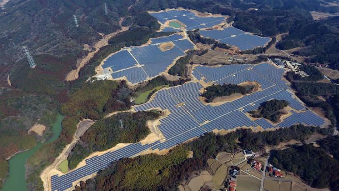 LG CNS가 구축한 일본 야마구치현 미네시 태양광 발전소