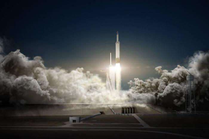 스페이스X 로켓 발사 장면.