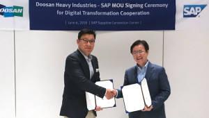 두산중공업, SAP와 발전·해수담수화 디지털전환 맞손