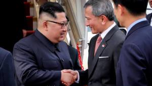 김정은, 리셴룽 싱가포르 총리와 회담 시작