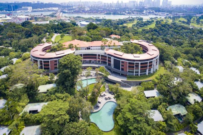 북미정상회담이 열리는 카펠라 호텔 전경