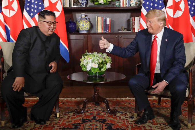 """[북미정상회담]트럼프, 단독회담 끝난 뒤 """"매우 매우 좋았다…큰 딜레마 해결할 것"""""""