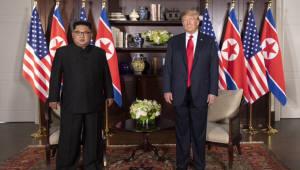 트럼프·김정은, 확대정상회담 마치고 업무오찬 시작