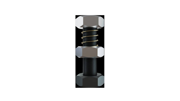 볼트제조 전문업체 코어볼트가 개발한 풀림방지 기능이 있는 '스프링락'.