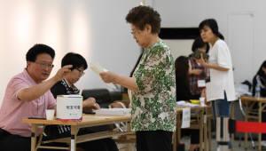 투표종료 1시간 전...전국 투표율 55.9%