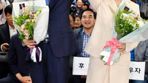 """[6·13 지방선거]박원순 """"수도권 민주당 승리, 협력해 주민 삶 개선"""""""