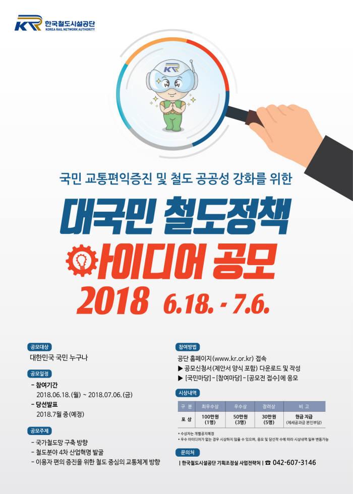 철도공단, 대국민 철도정책 아이디어 공모