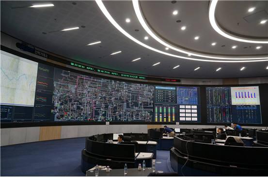 전력거래소 차세대 EMS의 운영센터 전경.