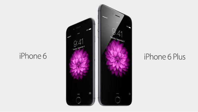 아이폰6와 아이폰6 플러스.