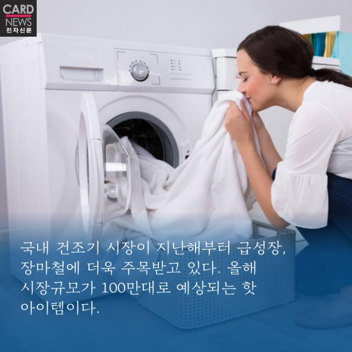 """[카드뉴스]""""건조기 한 대면 장마철 빨래 걱정 끝"""""""