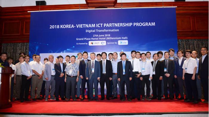 한국정보방송통신대연합(ICT대연합)이 베트남인터넷협회(VIA)와 하노이에서 '2018 베트남-한국 ICT 파트너십' 프로그램을 개최했다.