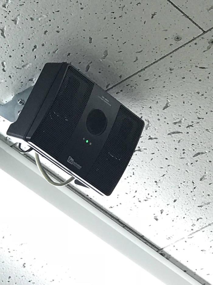 편의점 내에 지능형 이상음원탐지장치가 설치돼 비명이나 기물파손 소리를 감지한다.