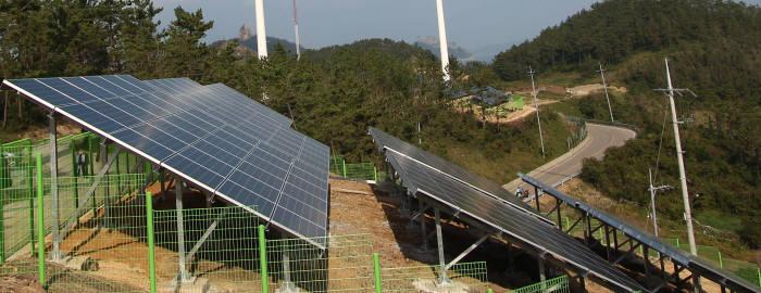 전라남도 진주군 가사도에 설치된 태양광발전설비.