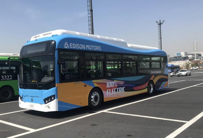 에디슨모터스 전기버스 e-화이버드.
