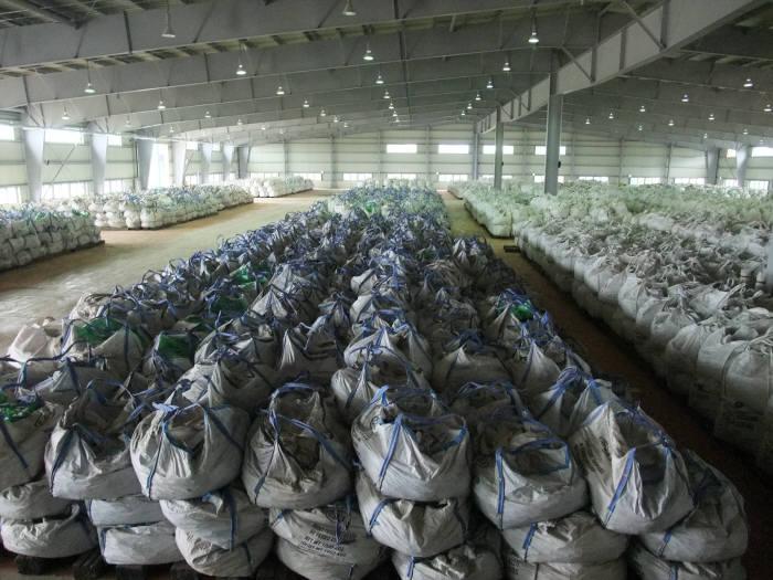 군산비축기지에 저장돼 있는 희유금속들.