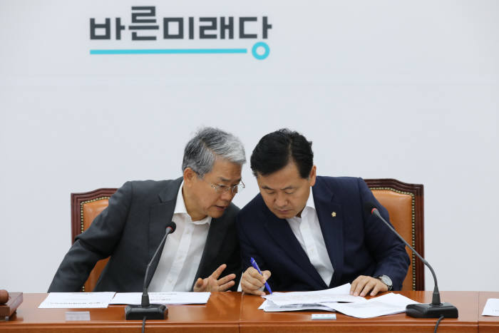 바른미래당 김동철 비상대책위원장과 김관영 원내대표