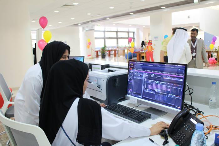 사우디아라비아 킹압둘라어린이전문병원 의료진이 이지케어텍이 구축한 베스트케어2.0을 이용하고 있다.