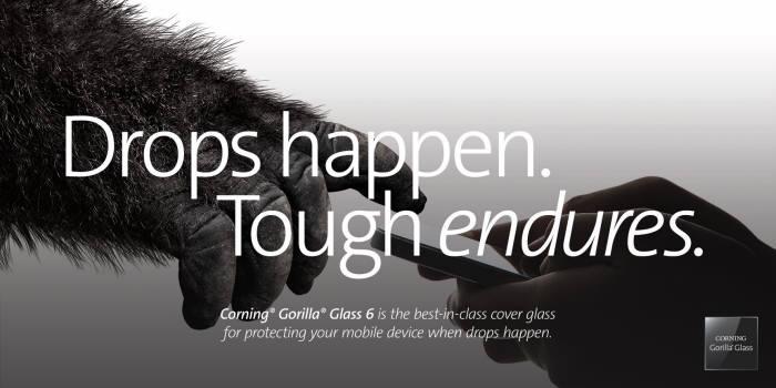 코닝이 스마트폰 커버유리용 코닝 고릴라 글라스6 신제품을 발표했다. (사진=코닝)