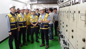 백운규 장관, 여름철 전력설비 현장 점검
