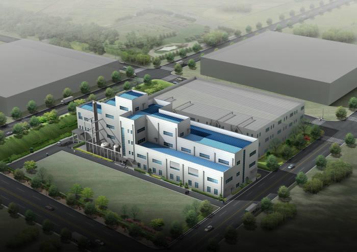 2011년 삼성정밀화학과 일본 토다공업이 합작 설립한 STM의 이차전지 활물질 공장 조감도. 2015년 삼성SDI가 지분 전량을 인수하며 삼성SDI 자회사가 됐다. <전자신문DB>