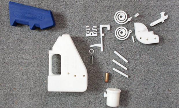 세계 최초로 3D프린터를 이용해 만든 권총 부품, 출처: 엔가젯