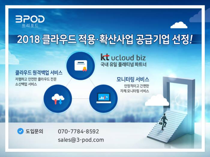 트리포드, `2018 클라우드 적용·확산사업' 공급기업 선정