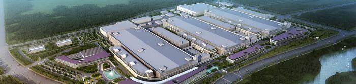 중국 후베이성 우한에 위치한 YMTC 3D 낸드플래시 생산공장.