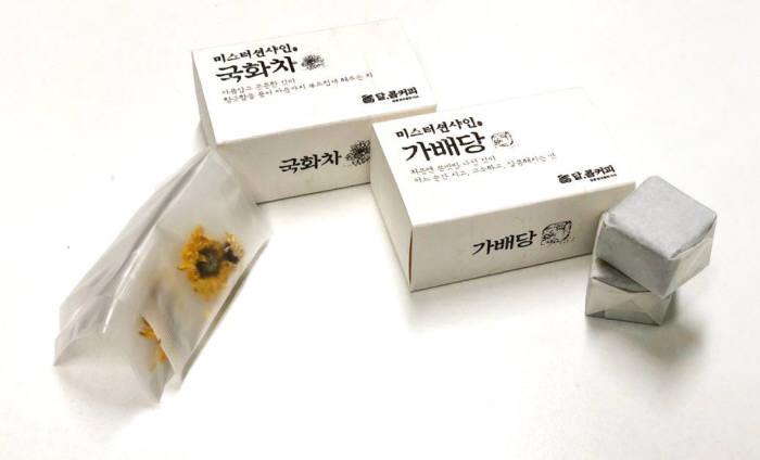 달콤커피, 가배당·국화차 등 이색 MD 상품 출시